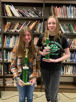 Kinslee McIlhenny Wins Junior High Spelling Bee